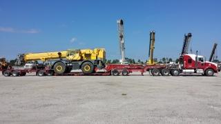 Kauff's truck transporting equipment